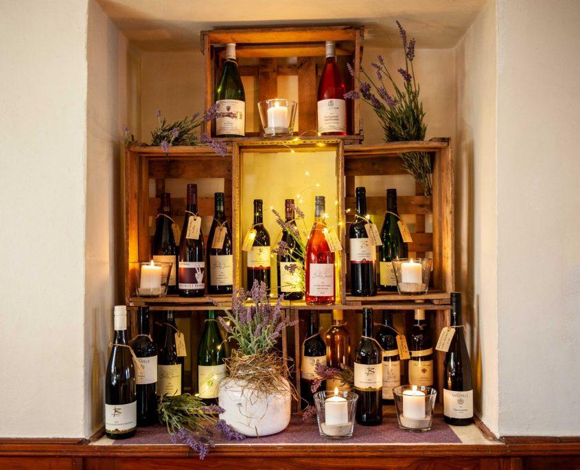 Weinpräsentationsfenster